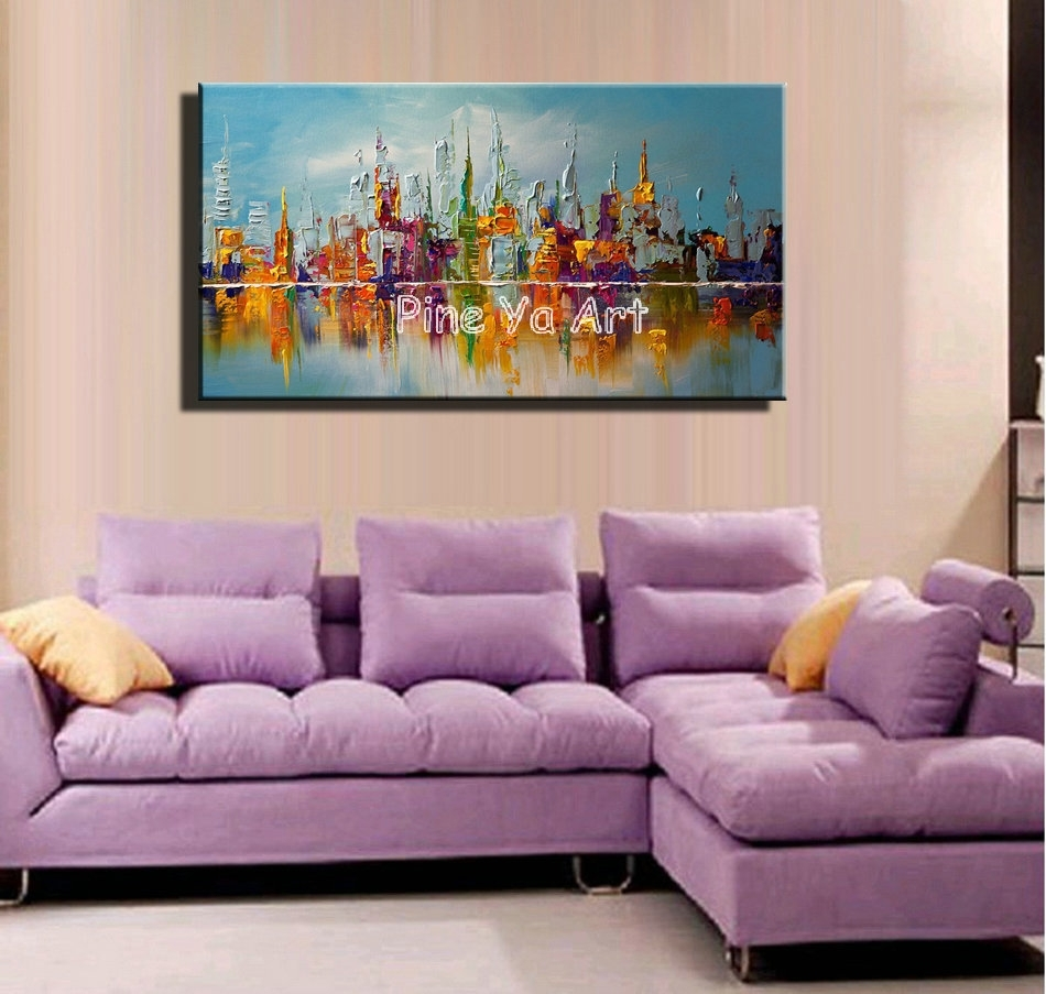 Large Abstract Modern Canvas Wall Art Big Handmade Decorative New In Best And Newest Big Abstract Wall Art (View 3 of 20)
