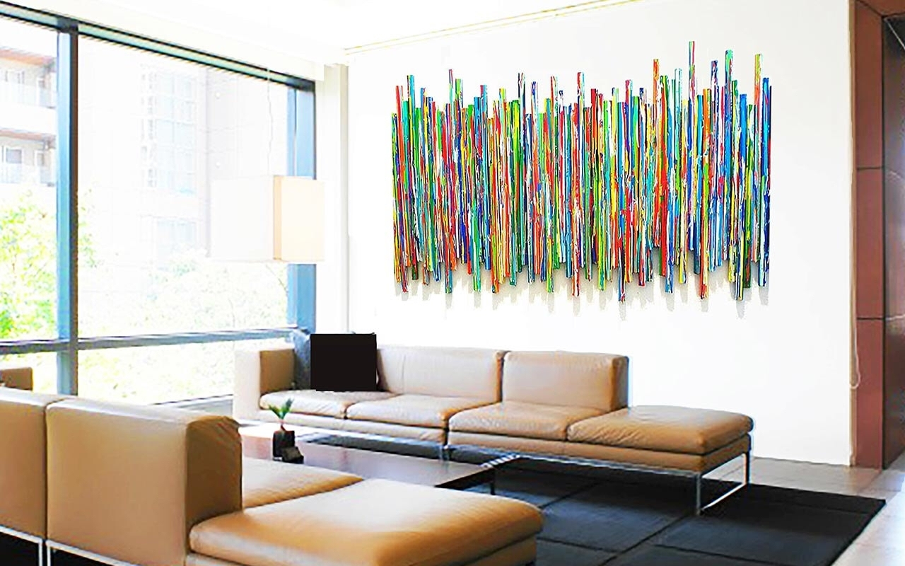 Large Abstract Wall Sculpture | Original Contemporary Wall Art Inside Newest Big Abstract Wall Art (View 6 of 20)
