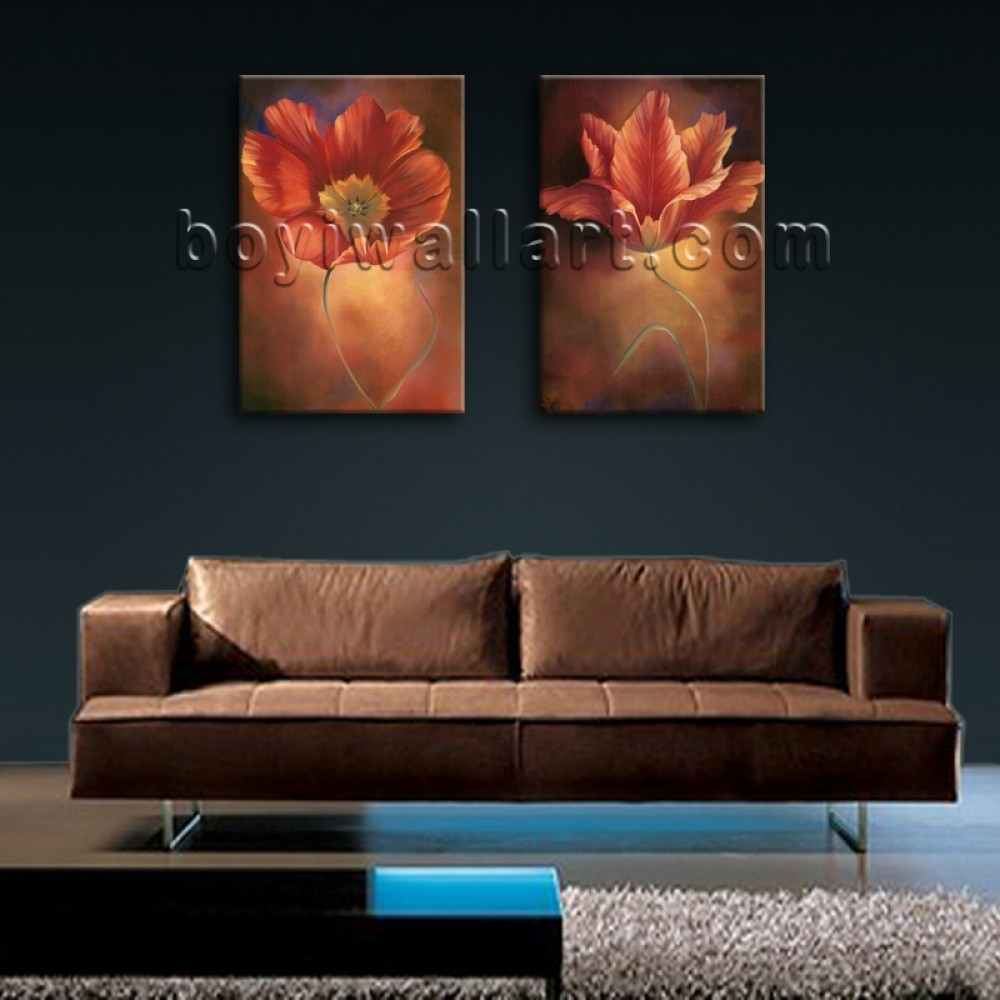 Large Framed Abstract Floral Giclee Prints On Canvas Wall Art For Regarding Current Large Framed Abstract Wall Art (Gallery 15 of 20)