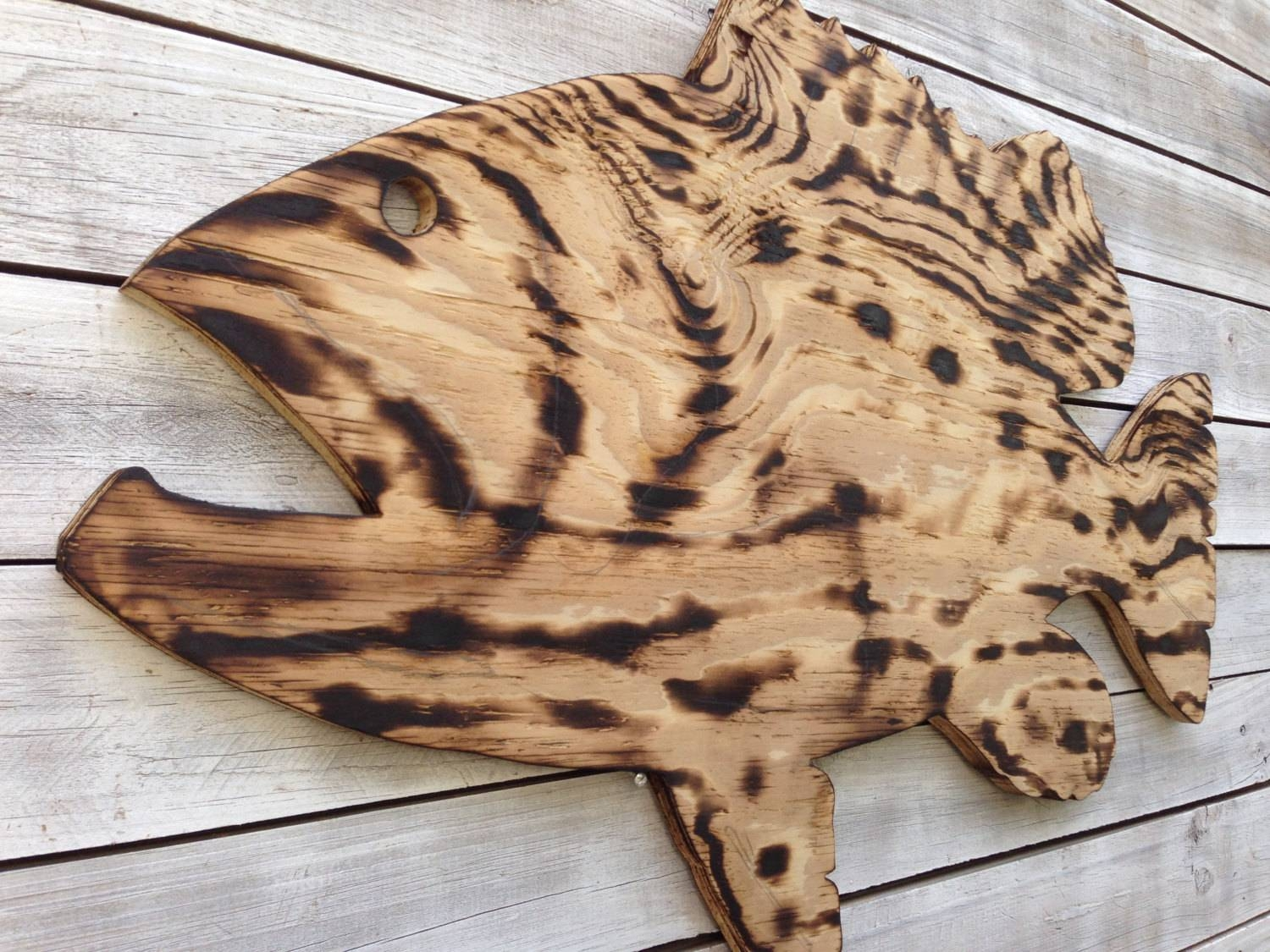 Large Outdoor Wall Art Fish Decor, Coastal Fish Sign, Goliath Regarding Best And Newest Large Coastal Wall Art (View 20 of 20)