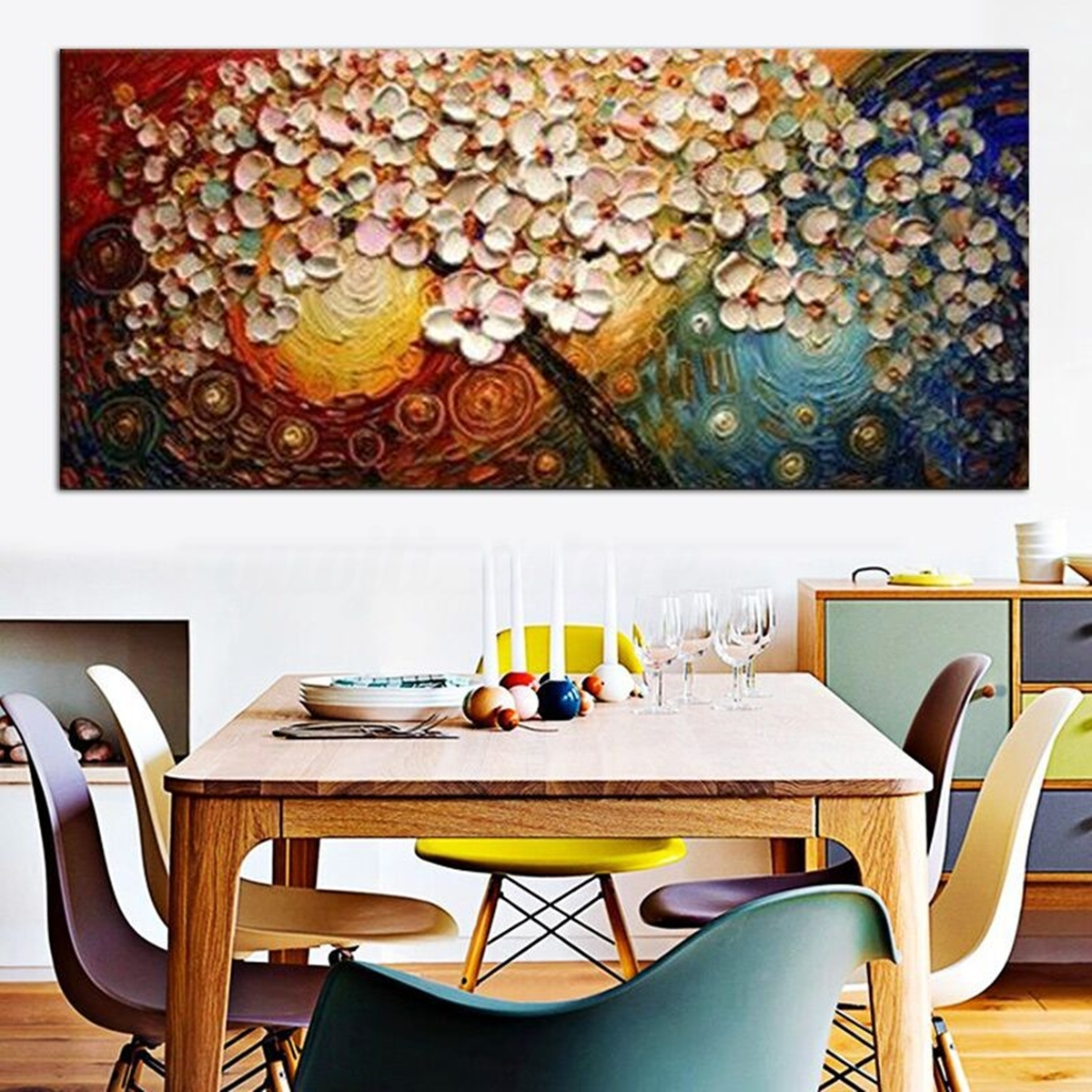 Large Picture Modern Abstract Canvas Oil Painting Print Home Room With Regard To Most Up To Date Abstract Wall Art For Dining Room (View 8 of 20)