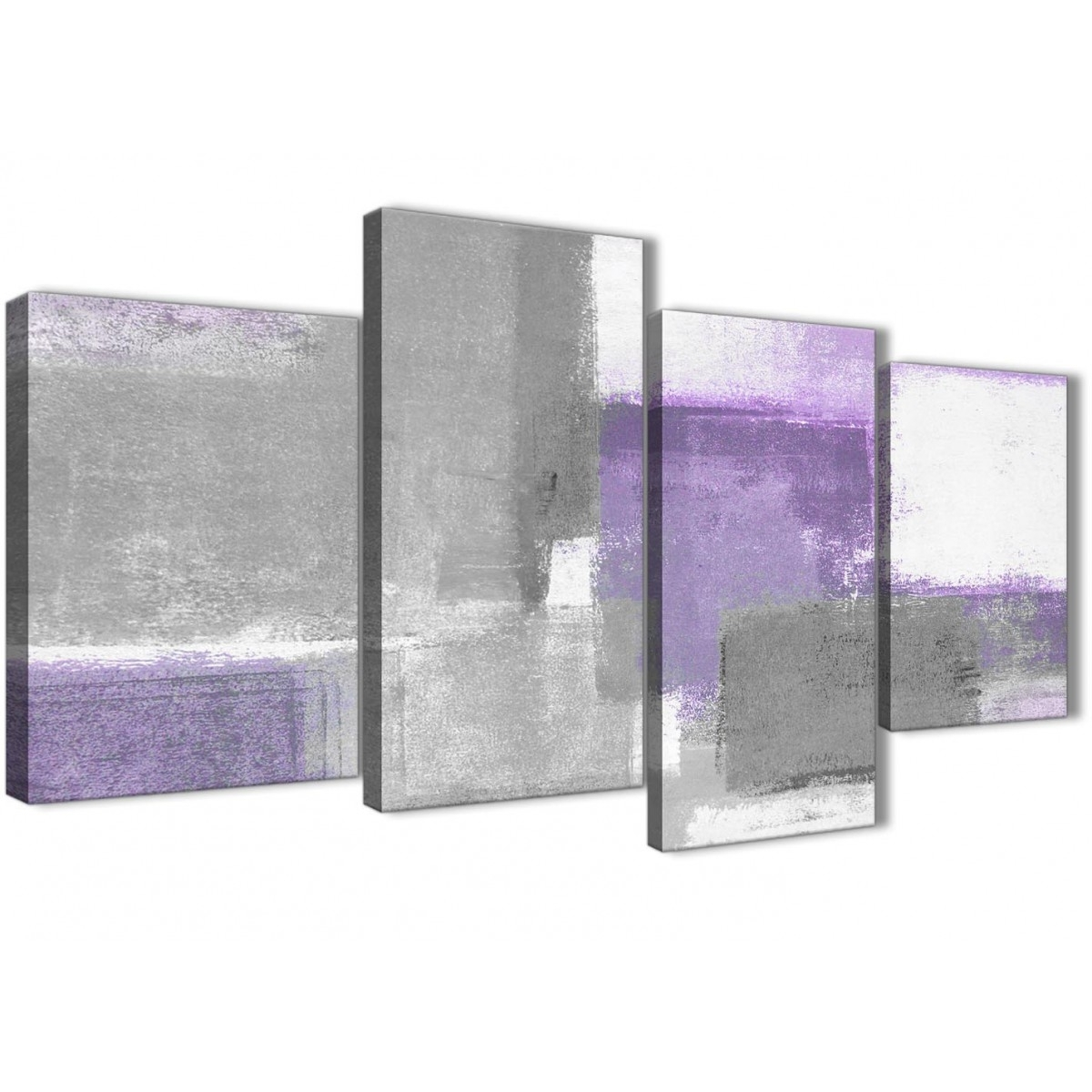Large Purple Grey Painting Abstract Living Room Canvas Pictures Inside Most Up To Date Purple And Grey Abstract Wall Art (View 11 of 20)