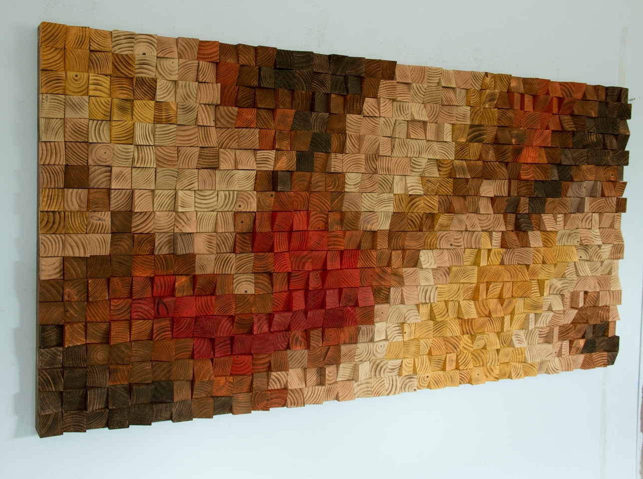 Large Rustic Wood Wall Art, Wood Wall Sculpture, Abstract Painting Pertaining To 2018 Sculpture Abstract Wall Art (Gallery 5 of 20)