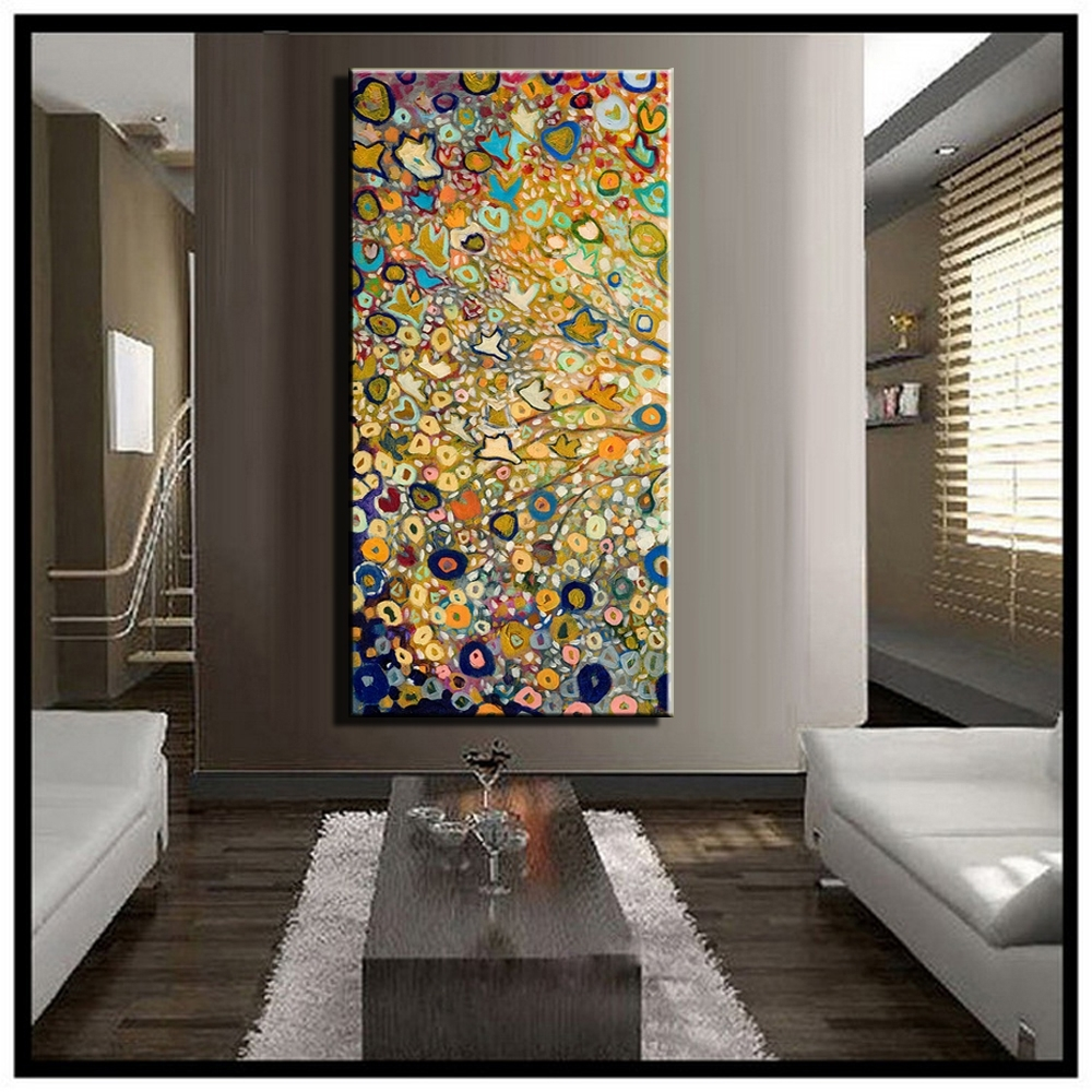 Large Single Abstract Flower Cheap Huge Vertical Oil Painting On Intended For Latest Large Abstract Canvas Wall Art (Gallery 17 of 20)