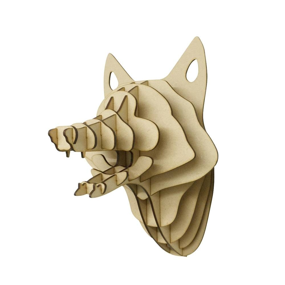 Large/ Small Wooden Fox Trophy 3d Animal Head Wall Art Home Throughout Most Recent 3d animal Wall Art (View 3 of 20)