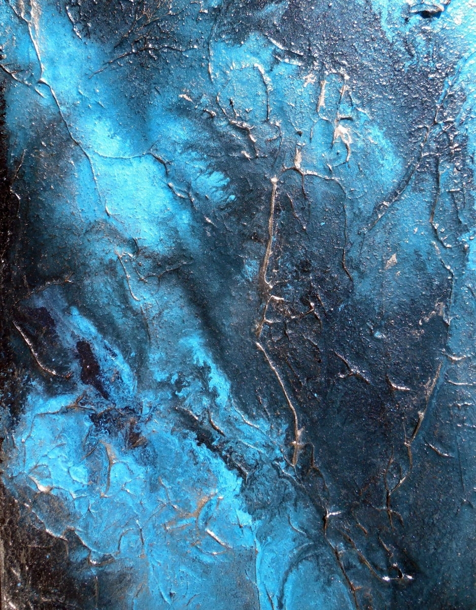 Large Wall Art, Abstract Painting, Contemporary Water Art Aqua Pertaining To Current Aqua Abstract Wall Art (View 14 of 20)