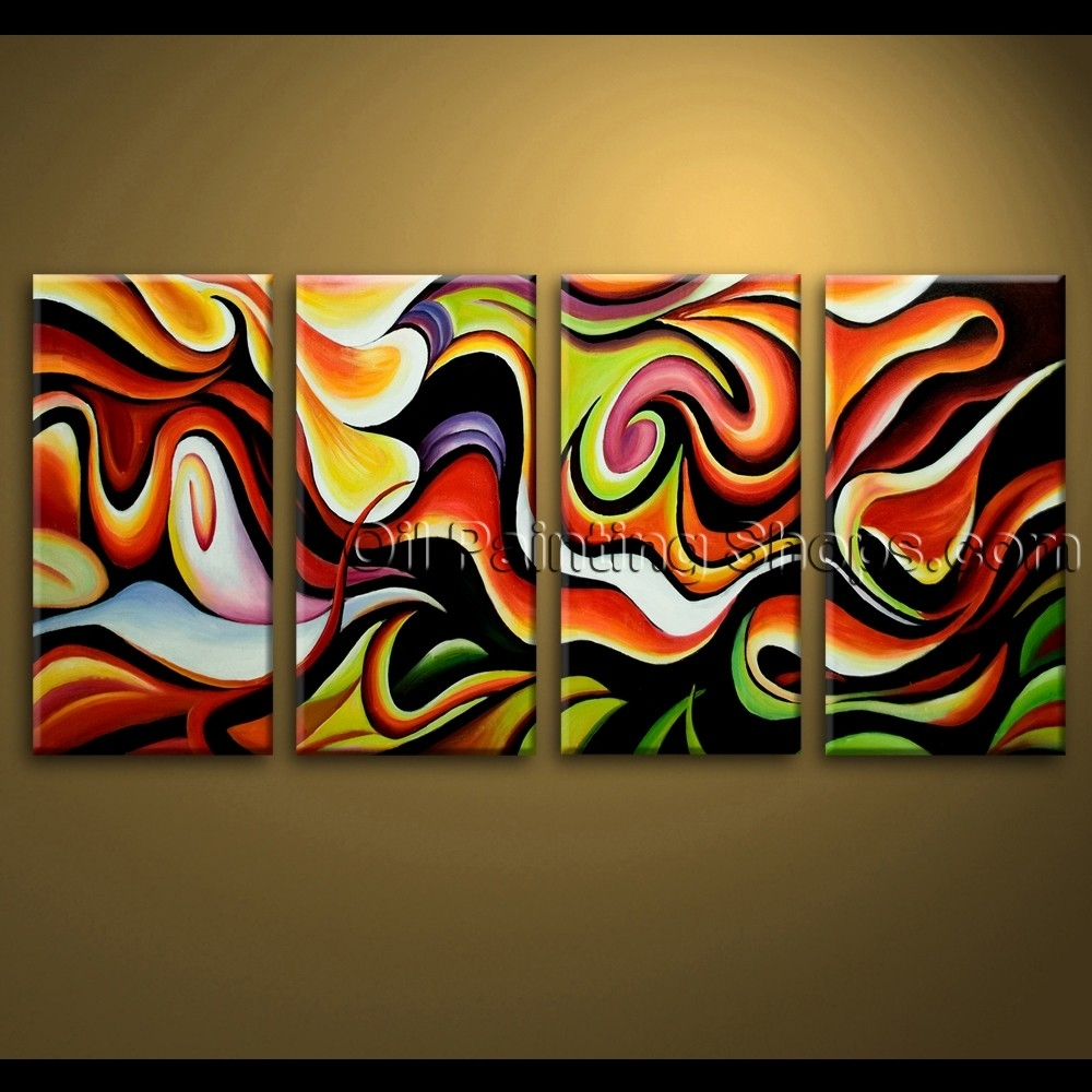Large Wall Art Abstract Painting Home Decoration Ideas Canvas Modern In Most Up To Date Extra Large Canvas Abstract Wall Art (View 9 of 20)