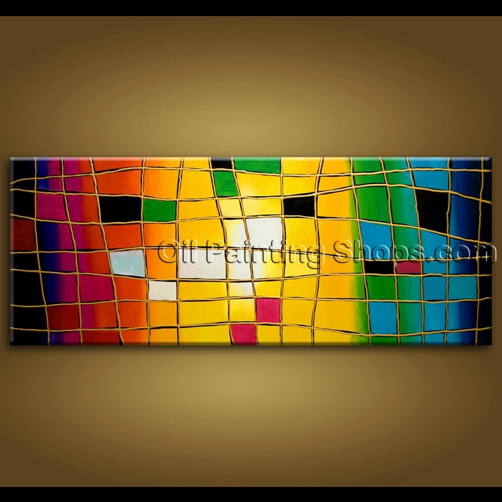 Large Wall Art Hand Painted Abstract Oil Painting On Canvas Modern In 2017 Extra Large Abstract Wall Art (View 12 of 20)