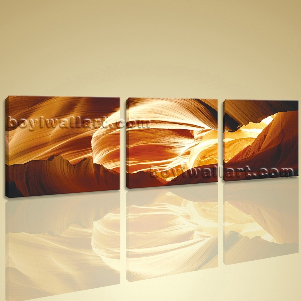 Large Wall Art Modern Abstract Hd Picture Print On Canvas 3 Pieces Inside Most Up To Date Extra Large Abstract Wall Art (View 13 of 20)