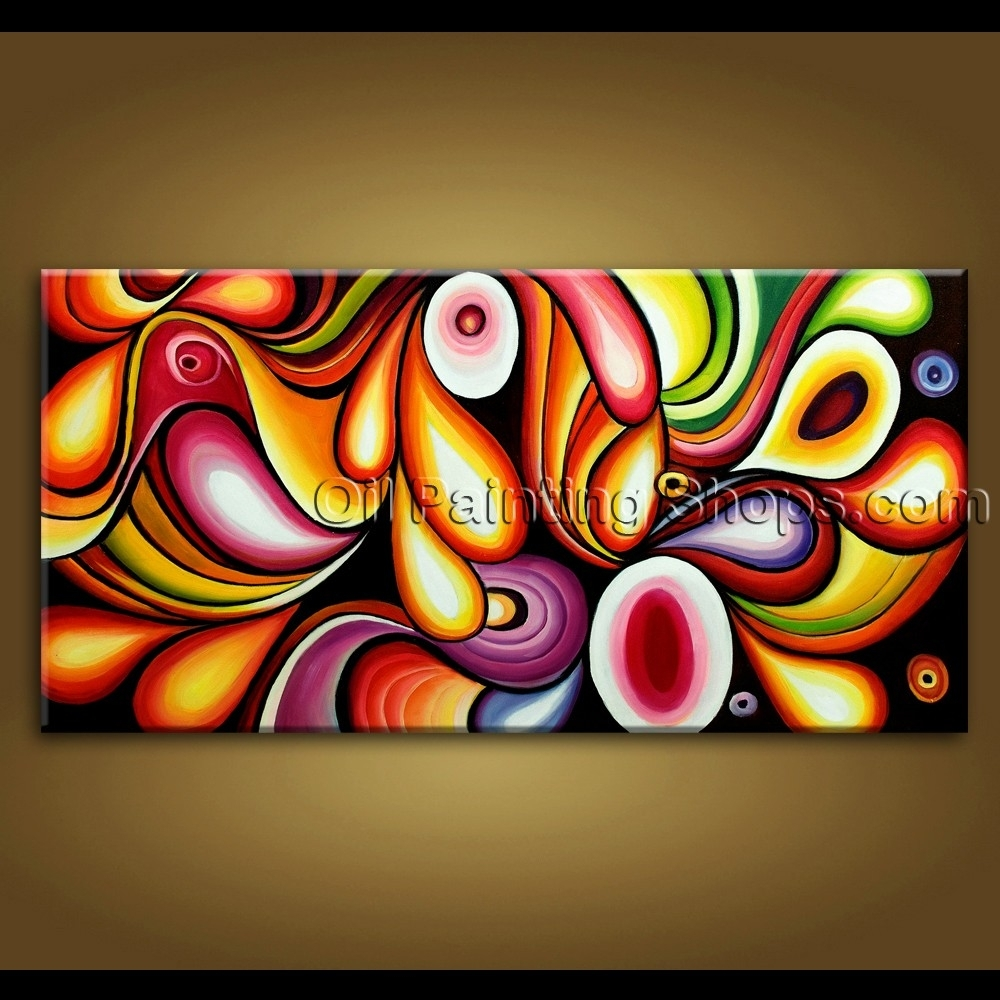 Large Wall Art Original Modern Abstract Oil Painting On Canvas Unique Throughout Most Popular Extra Large Abstract Wall Art (View 14 of 20)