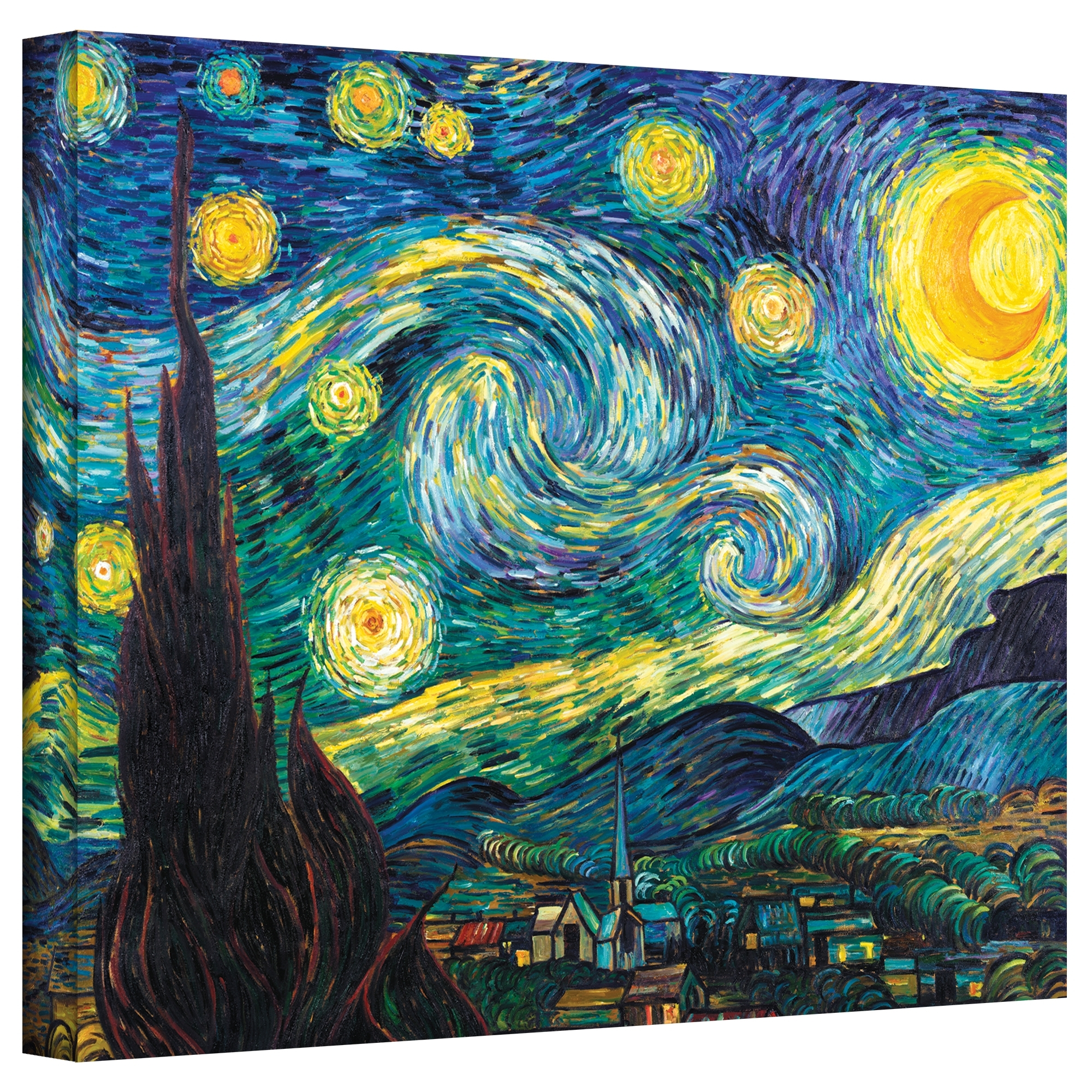 Li>artist: Vincent Vangogh</li> <li>title: Starry Night</li> <li For 2017 Vincent Van Gogh Multi Piece Wall Art (View 7 of 20)