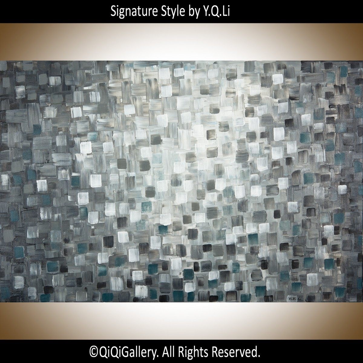 "Light In The Darknessqiqigallery 36""x24"" Original Modern In Best And Newest Abstract Wall Art For Office (View 8 of 20)"