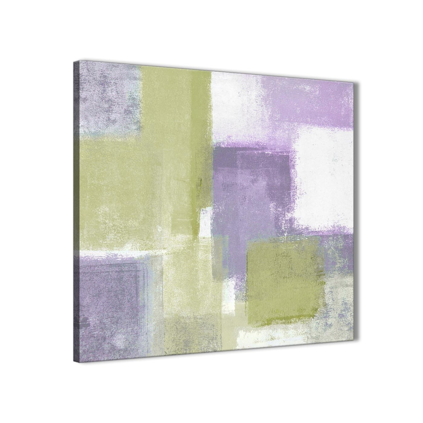 Lime Green Purple Abstract Painting Canvas Wall Art Print – Modern Intended For 2017 Lime Green Abstract Wall Art (View 17 of 20)