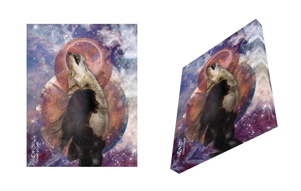 Limited Edition Canvas Prints – Cosmic Collage Regarding Most Up To Date Limited Edition Canvas Wall Art (View 16 of 20)