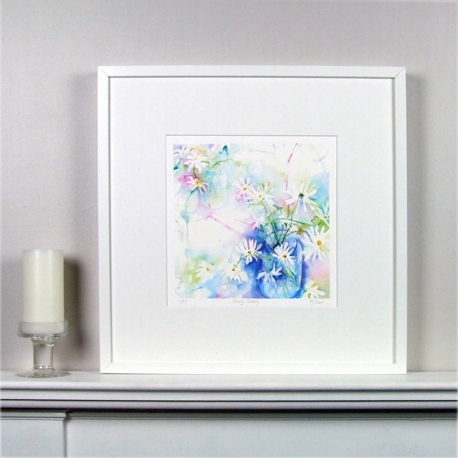 Limited Edition Floral Daisy Fine Art Canvas Printsusan Miller Inside Best And Newest Limited Edition Wall Art (View 8 of 20)