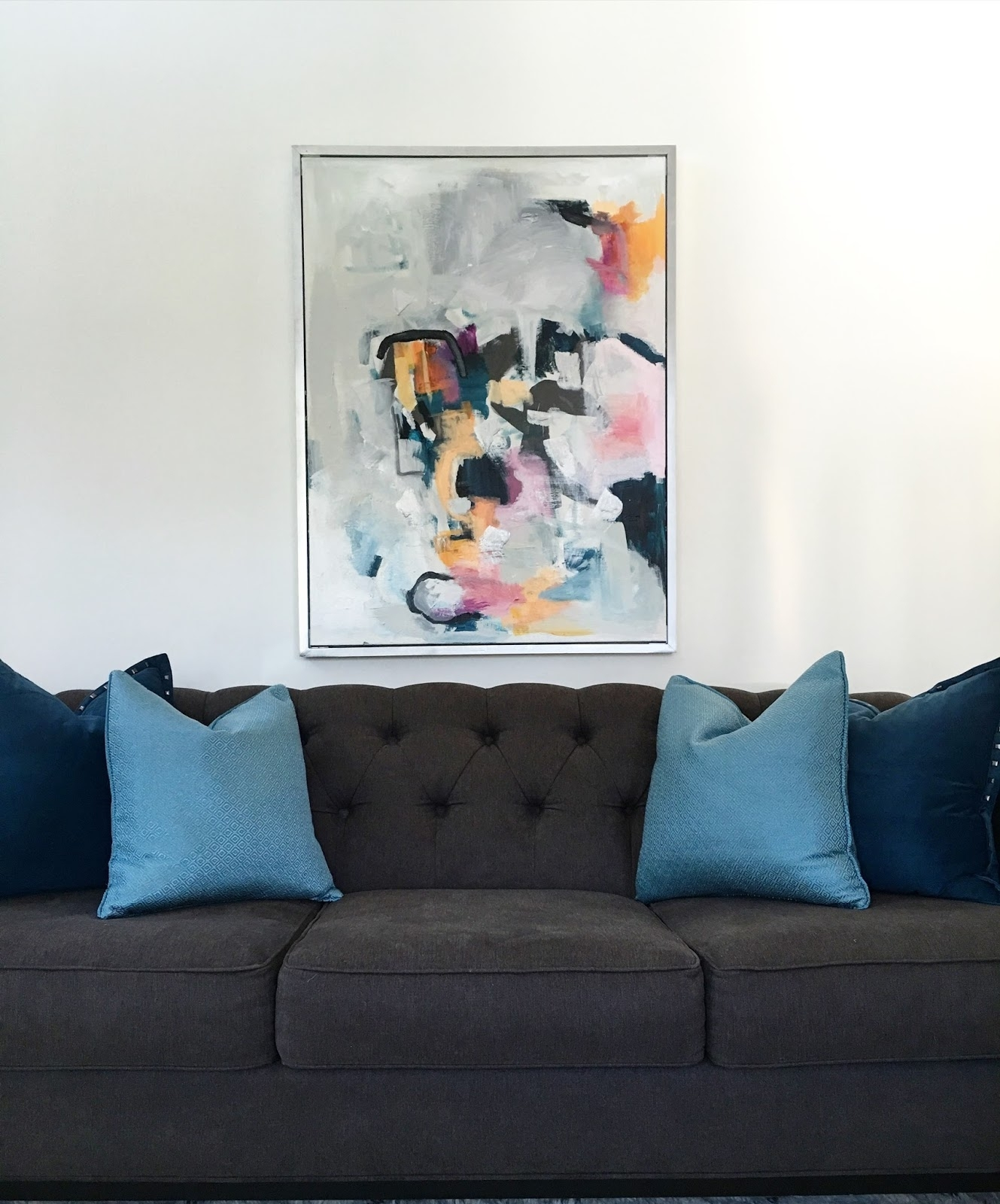 Livelovediy: Diy Abstract Wall Art Throughout Latest Abstract Wall Art Living Room (Gallery 13 of 20)
