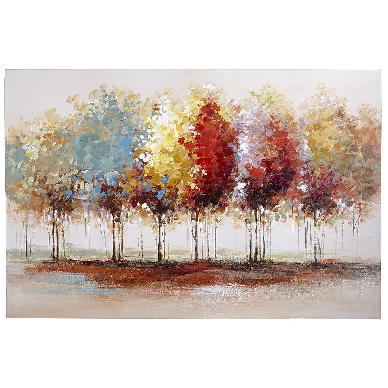 Lively Trees Art – 31X47 | Tree Art, Paintings And Living Room Artwork Pertaining To 2017 Pier One Abstract Wall Art (View 11 of 20)