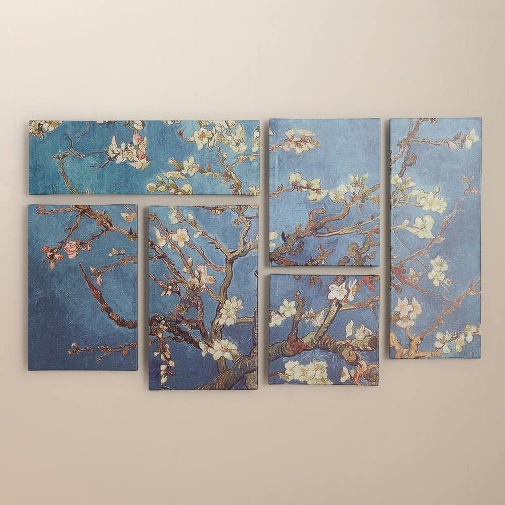 Living Room Wall Decoration Bungalow Rose 'almond Blossoms' Within Most Current Vincent Van Gogh Multi Piece Wall Art (View 13 of 20)