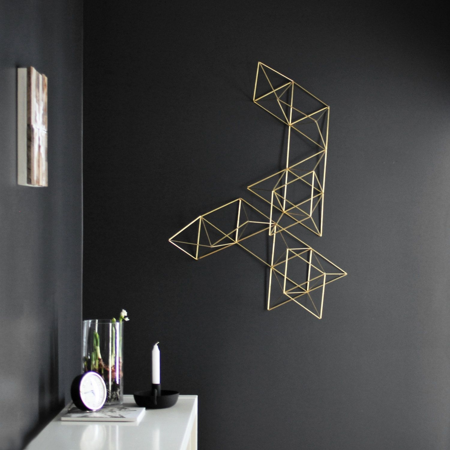 Lux – Large Abstract Wall Sculpture – Geometric Art – Himmeli Regarding 2018 Abstract Geometric Metal Wall Art (View 10 of 20)