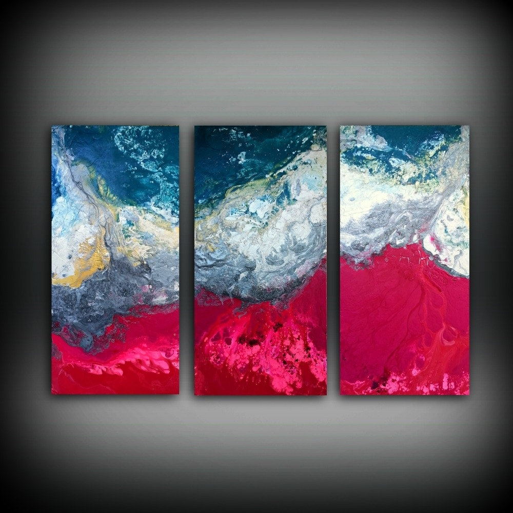 Magenta Painting 48 X 72 Acrylic Painting Canvas Art Abstract Regarding 2017 Extra Large Canvas Abstract Wall Art (View 14 of 20)