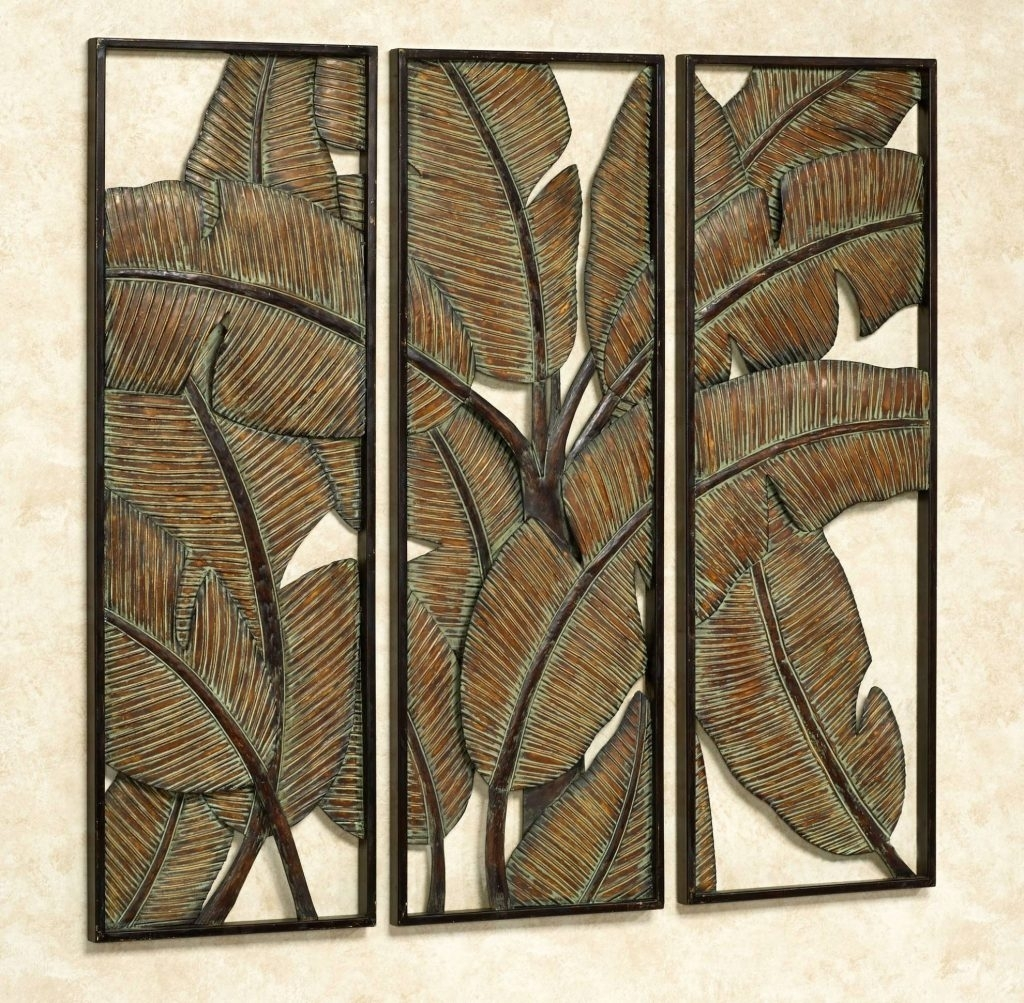 Marvellous Tropical Metal Wall Art With 20 Best Of Kaylani Leaf Throughout Latest Abstract Leaves Wall Art (View 12 of 20)