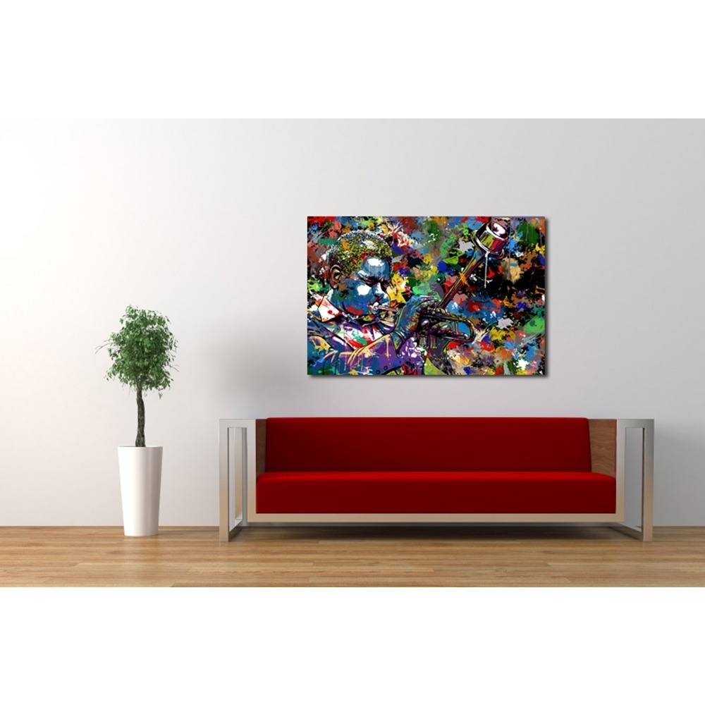 Maxwell Dickson 'jazz' Limited Edition Canvas Wall Art – Free Inside Recent Limited Edition Canvas Wall Art (View 3 of 20)