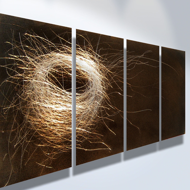 Metal Art Wall Art Decor Abstract Contemporary Modern Sculpture Throughout 2018 Abstract Metal Wall Art Panels (View 10 of 20)