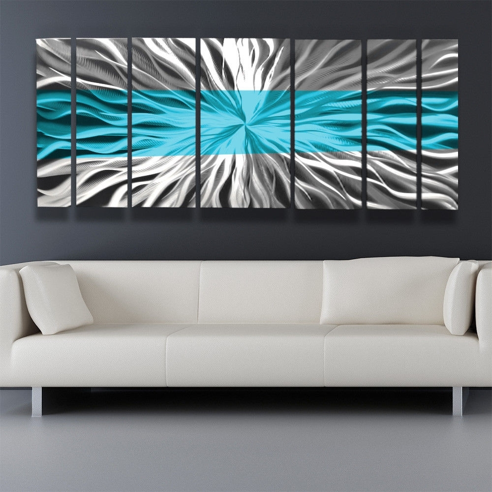 Metal Wall Art Blue Modern Abstract Sculpture Painting Home Decor Regarding 2017 Kingdom Abstract Metal Wall Art (Gallery 9 of 20)
