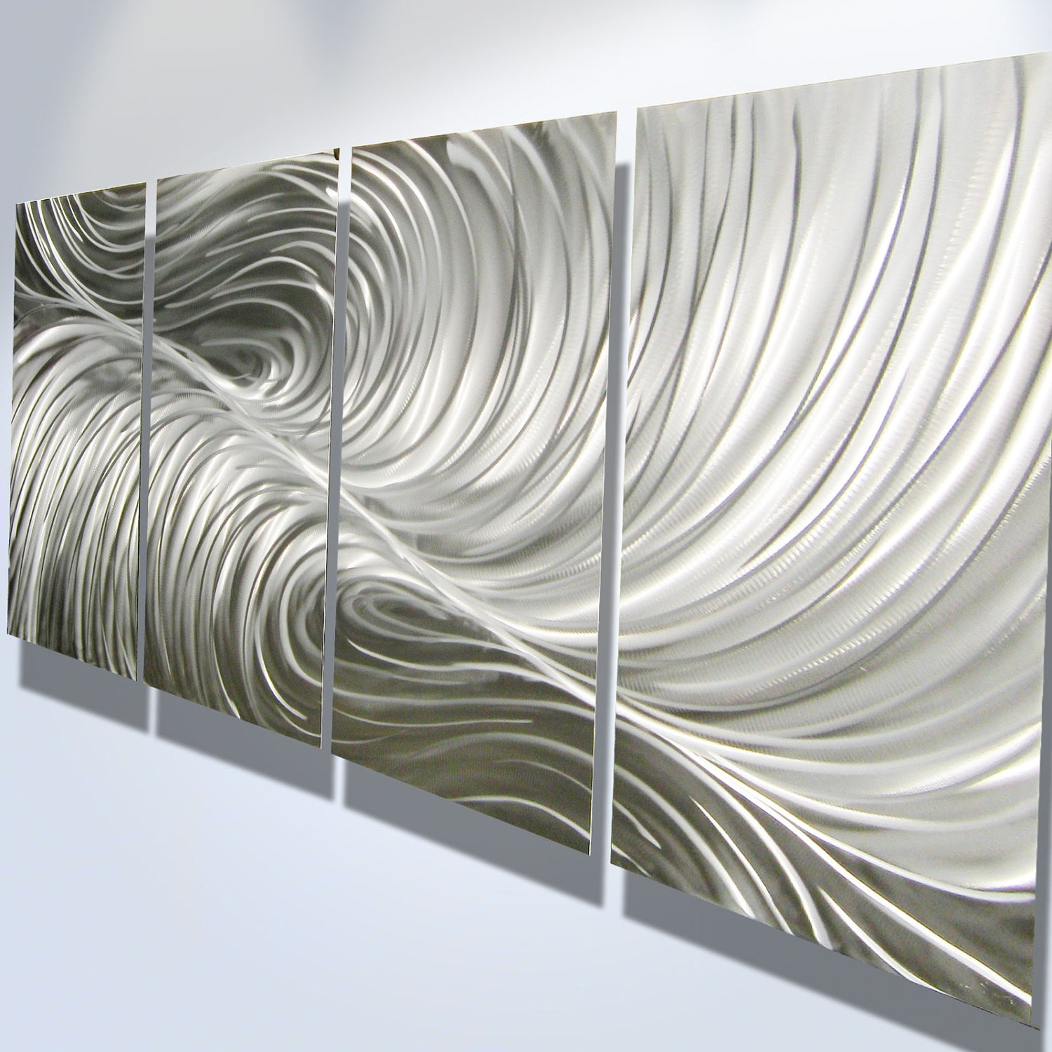 Metal Wall Art Decor Abstract Aluminum Contemporary Modern Regarding Best And Newest Aluminum Abstract Wall Art (View 9 of 20)