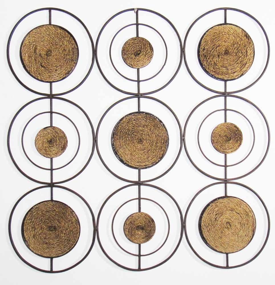 Metal Wall Art – Rope Grid Abstract | Diy Art | Pinterest | Metal Intended For 2017 Abstract Circles Wall Art (Gallery 6 of 20)