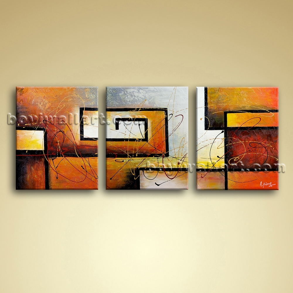 Modern Abstract Canvas Wall Art Giclee Oil Contemporary Framed Pertaining To 2018 Framed Abstract Wall Art (View 8 of 20)