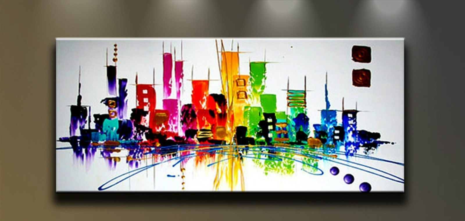 Modern Abstract Hand Painted Art Oil Painting Wall Decor Canvas For Latest Abstract Wall Art Canvas (View 15 of 20)