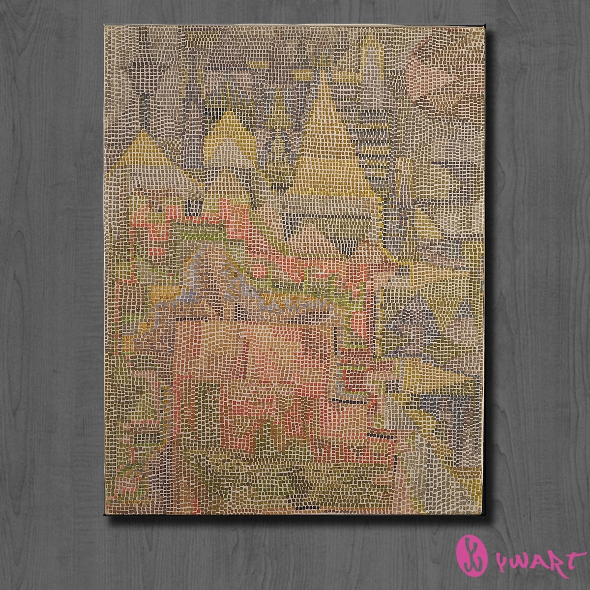Modern Abstract Huge Wall Painting On Canvas Paul Klee Castle Within Most Recently Released Abstract Garden Wall Art (Gallery 19 of 20)