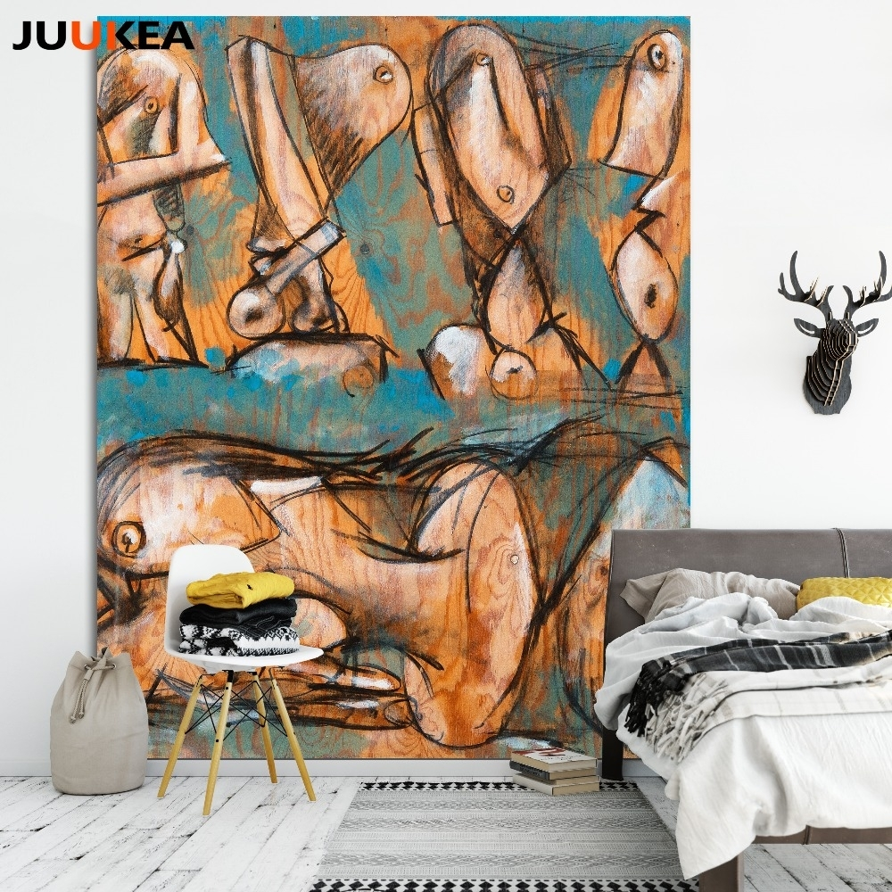 Modern Abstract Human Body Cubism Canvas Art Print Painting Poster Throughout Most Recent Abstract Body Wall Art (Gallery 6 of 20)