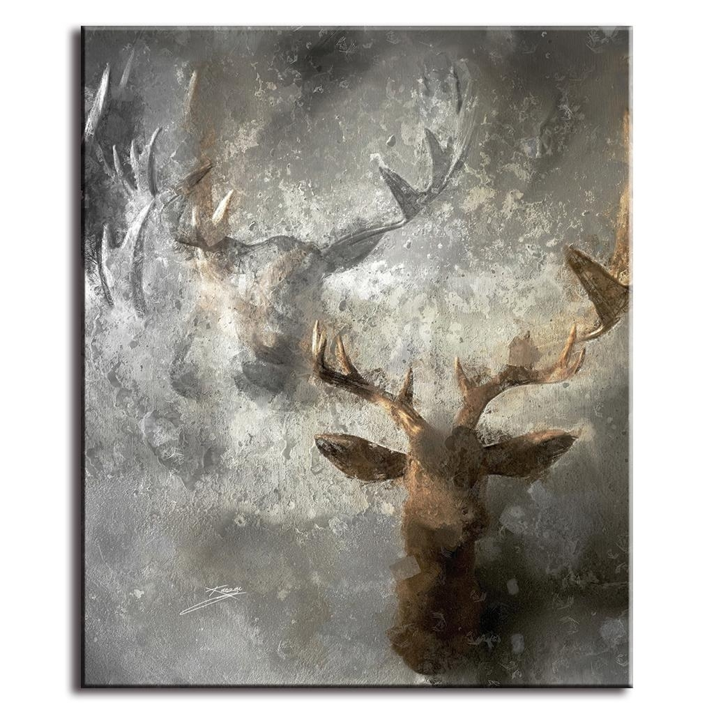 Modern Abstract Wall Paintings Deer Artist Canvas Prints Unframed Within 2017 Abstract Deer Wall Art (Gallery 1 of 20)