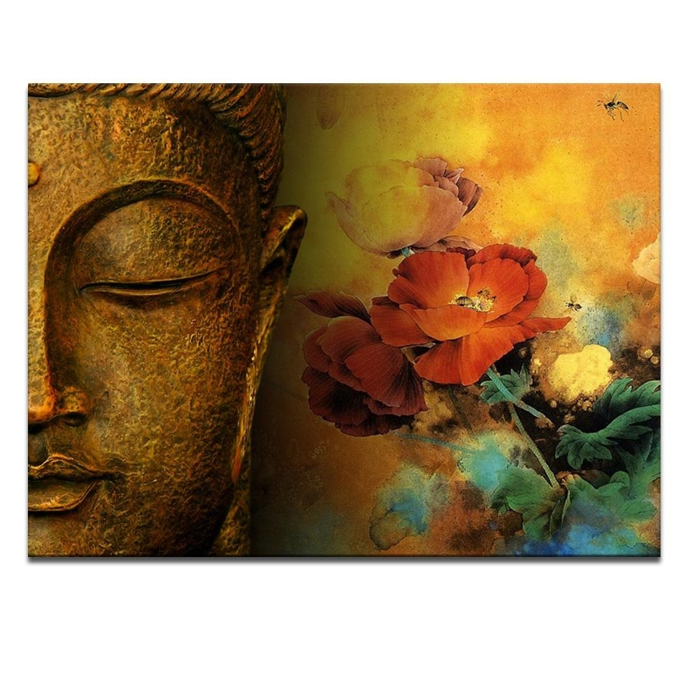 Modern Buddha Painting Printing On Canvas Abstract Portriat Buddha Within Most Recently Released Abstract Buddha Wall Art (View 14 of 20)