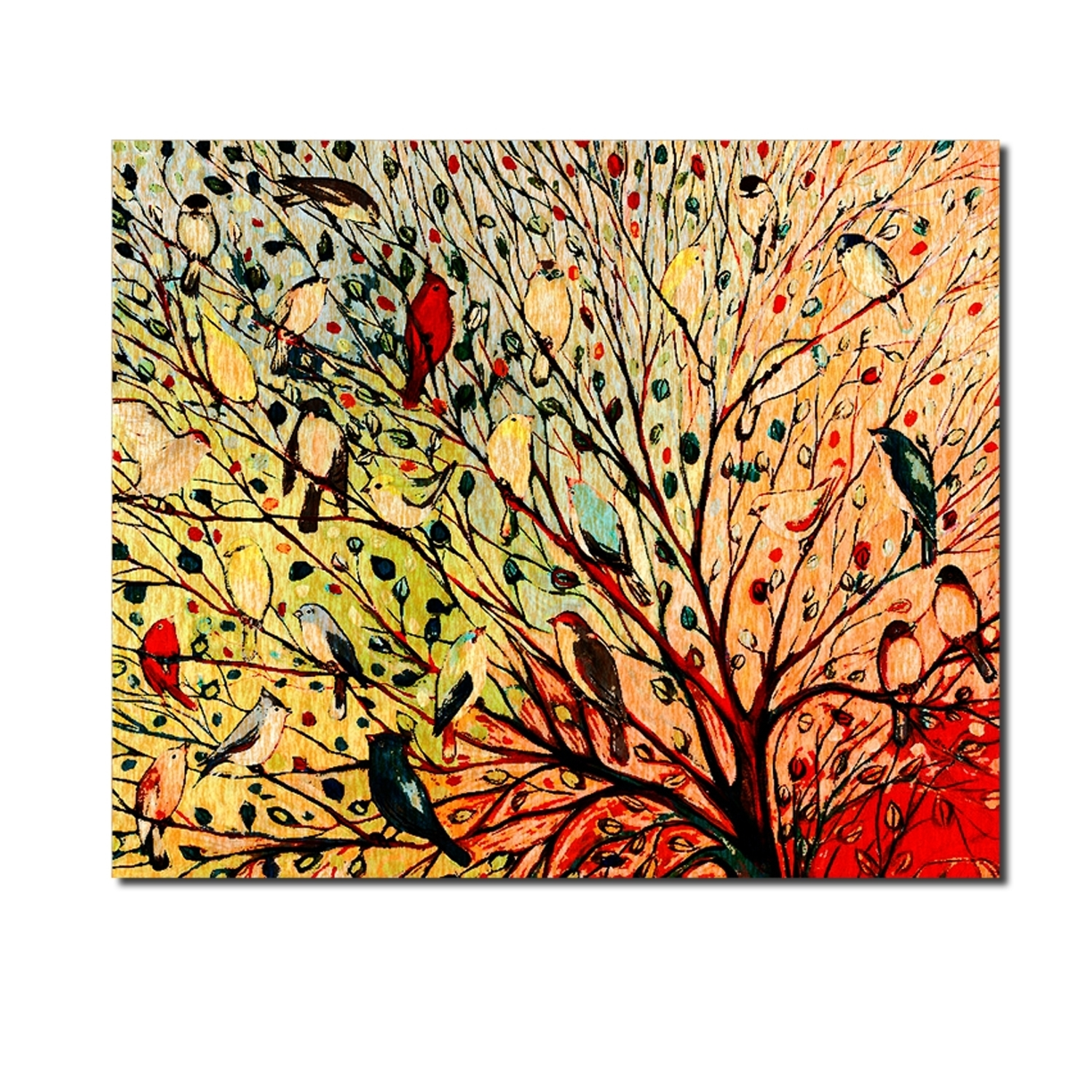 Modern Decorative Oil Painting Trees,bird Oil Painting Canvas,bird Regarding Most Popular Abstract Bird Wall Art (View 12 of 20)