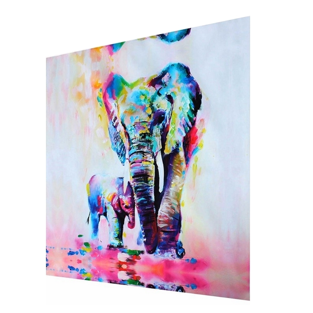 Modern Hand Painted Art Oil Painting Abstract Wall Decor Elephant With Regard To Best And Newest Abstract Elephant Wall Art (Gallery 17 of 20)