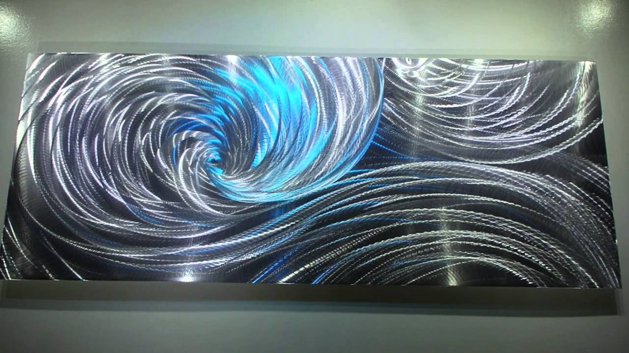 Modern Metal Art 3D Aluminum Sculpture Wall Decor Led Rgb Halogen Within Most Recent Aluminum Abstract Wall Art (View 13 of 20)