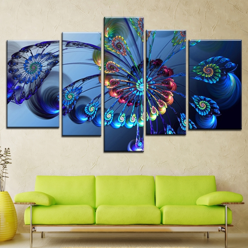 Modern Oil Painting Canvas Print Landscape Abstract Art Blue In 2017 Abstract Landscape Wall Art (View 17 of 20)