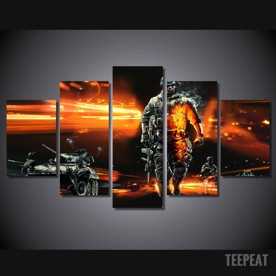 Modern Soldier – 5 Piece Canvas Limited Edition | Nerd Cave In Newest Limited Edition Canvas Wall Art (View 17 of 20)