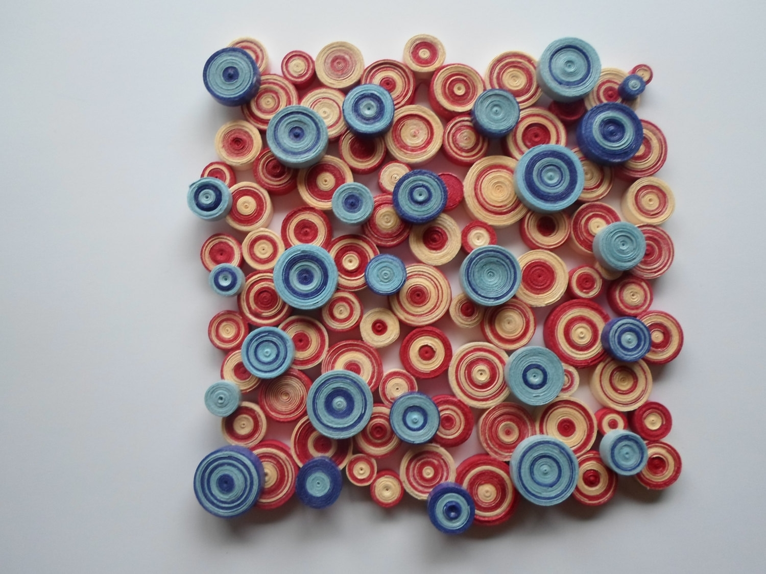 Modern Wall Decor Blue Red Wall Decoration Abstract Circles Wall Inside Most Current Abstract Circles Wall Art (View 15 of 20)