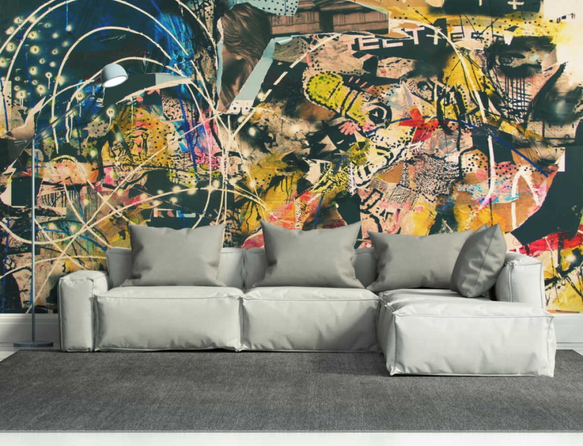 Mural : Abstract Wall Mural Enthrall Abstract Wall Murals Cheap Throughout Recent Abstract Art Wall Murals (View 14 of 20)