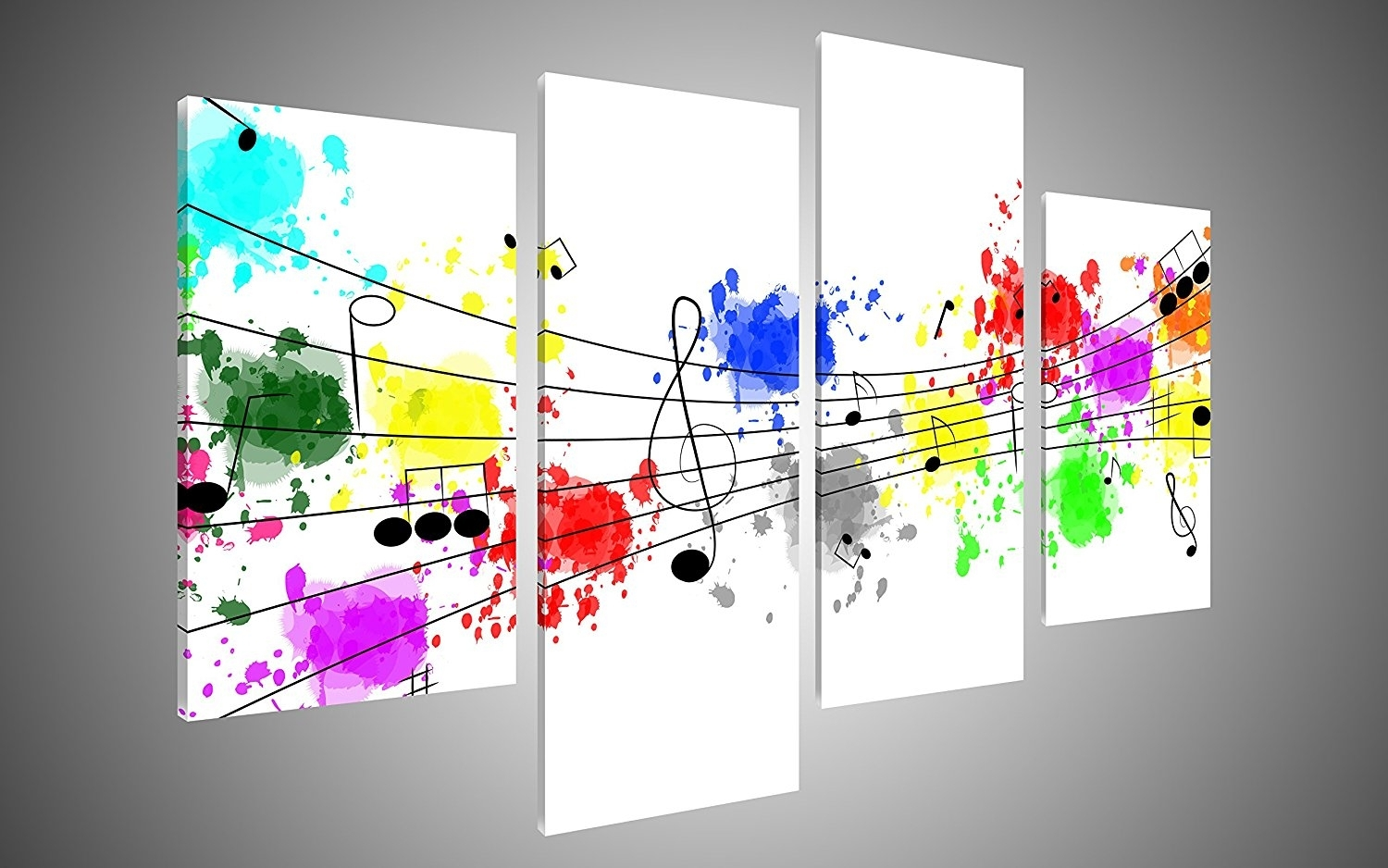 Music Paintings : Cheap Oil Paintings|Paintings For Sale|Wall Art For Latest Abstract Musical Notes Piano Jazz Wall Artwork (View 8 of 20)