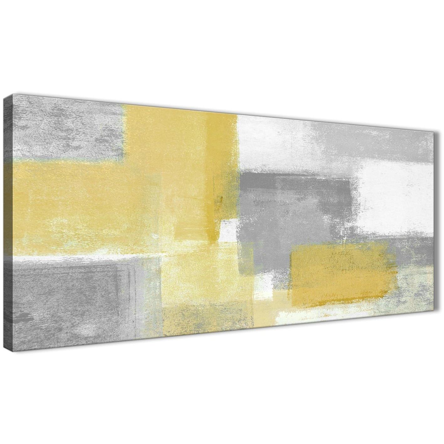 Mustard Yellow Grey Living Room Canvas Wall Art Accessories Regarding Most Recently Released Yellow And Grey Abstract Wall Art (View 9 of 20)