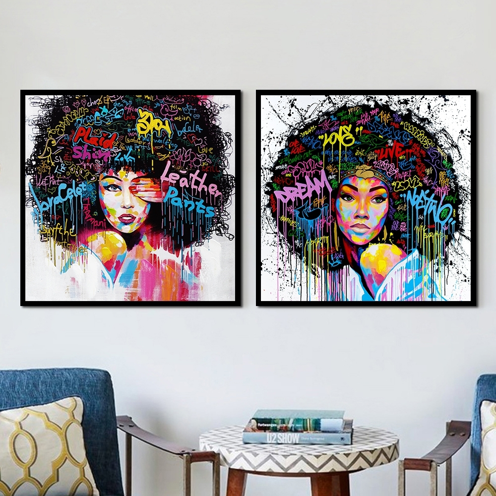 New Graffiti Individuality Street Wall Art Abstract Modern African With Best And Newest Abstract African Wall Art (View 17 of 20)