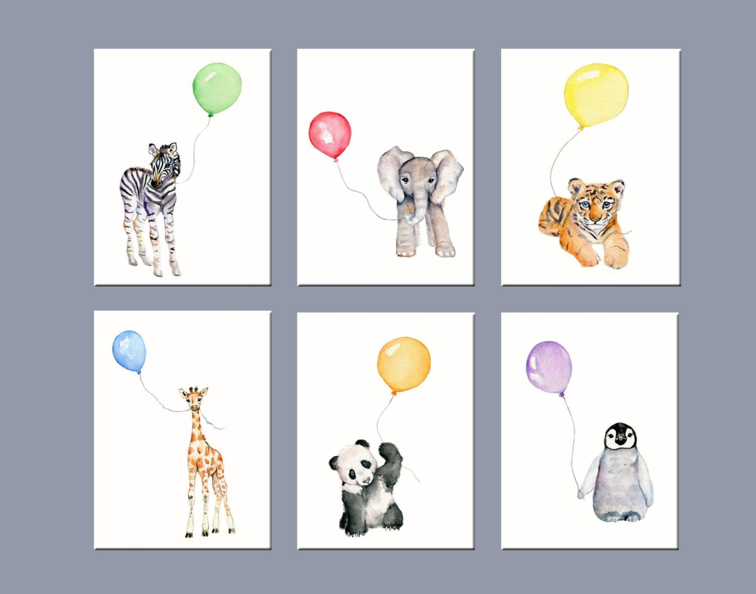 Nursery Art Animals Nursery Wall Decor Zoo Animal Nursery With Regard To Newest Animal Wall Art For Nursery (View 11 of 20)