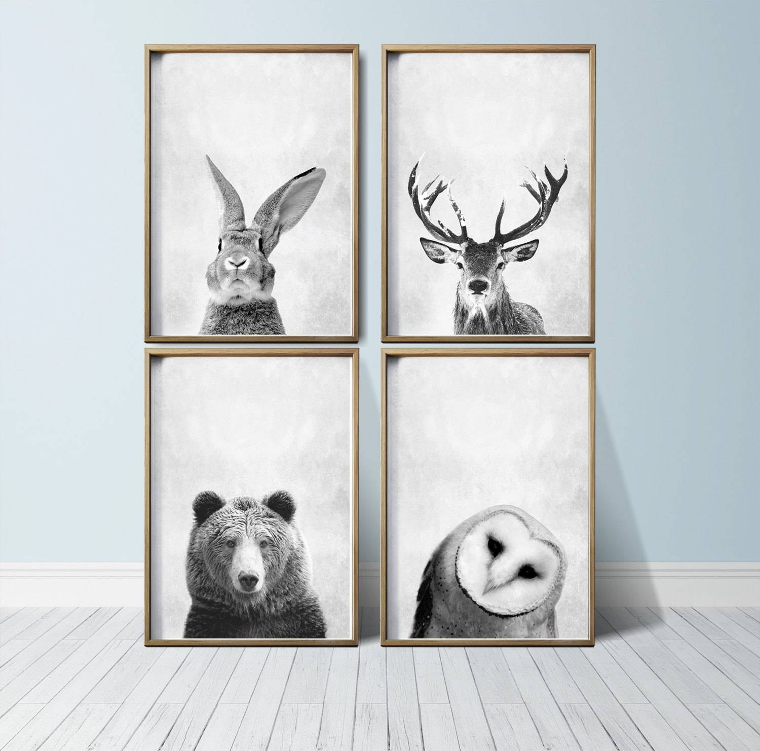 Nursery Art Nursery Deco Animal Print Art Woodland Nursery Art inside 2018 Woodland Animal Wall Art