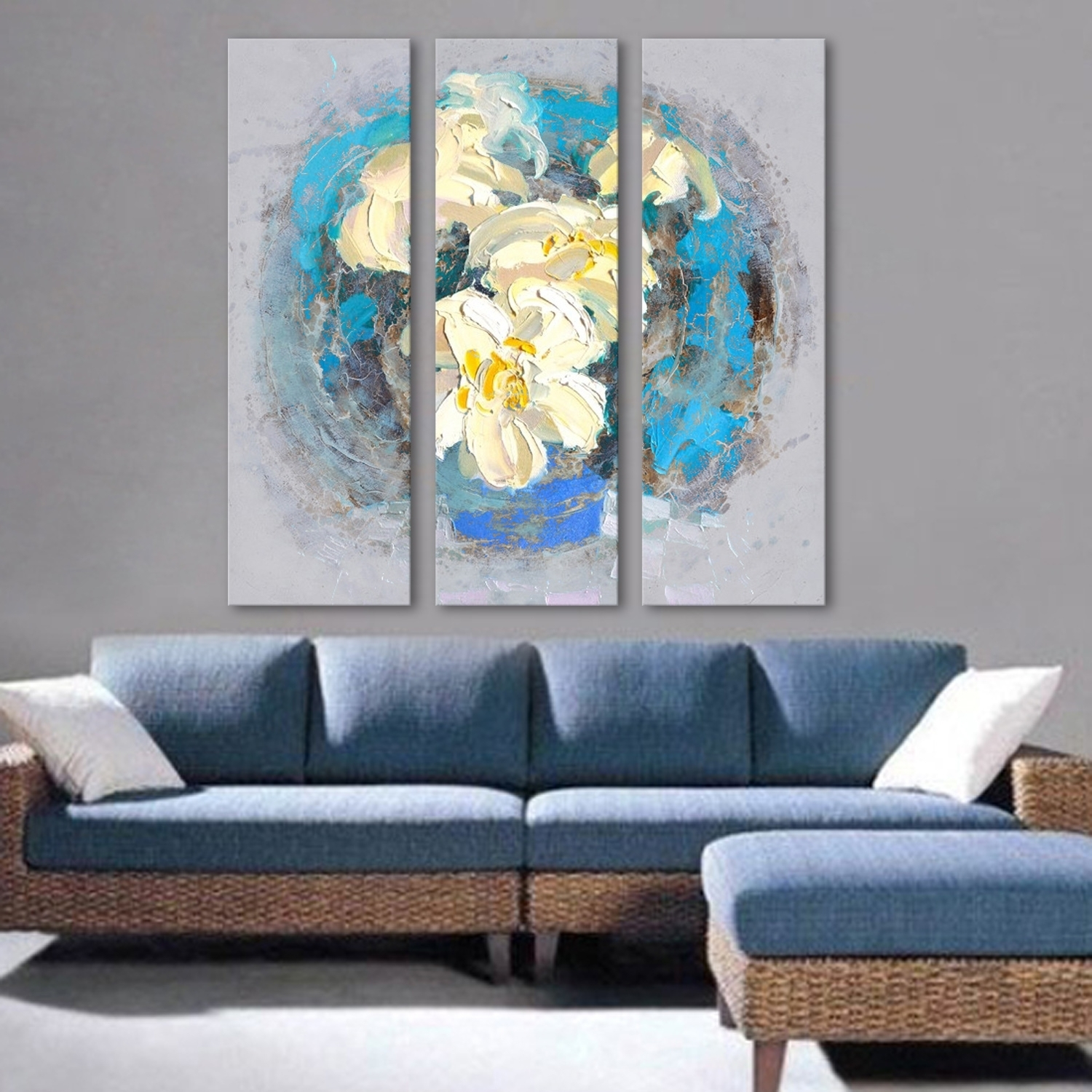 Oil Painting, Oil Paintings For Sale Online, Canvas Art Supplier For Most Up To Date Abstract Flower Wall Art (View 4 of 20)