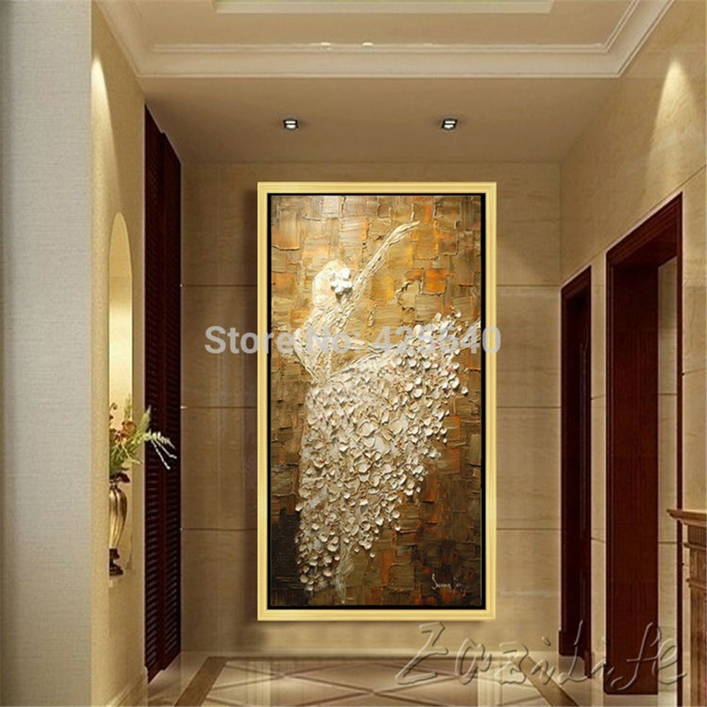 Oil Painting On Canvas Ballet Dancer Wall Pictures Large Abstract Inside Newest Abstract Wall Art Canvas (View 15 of 20)